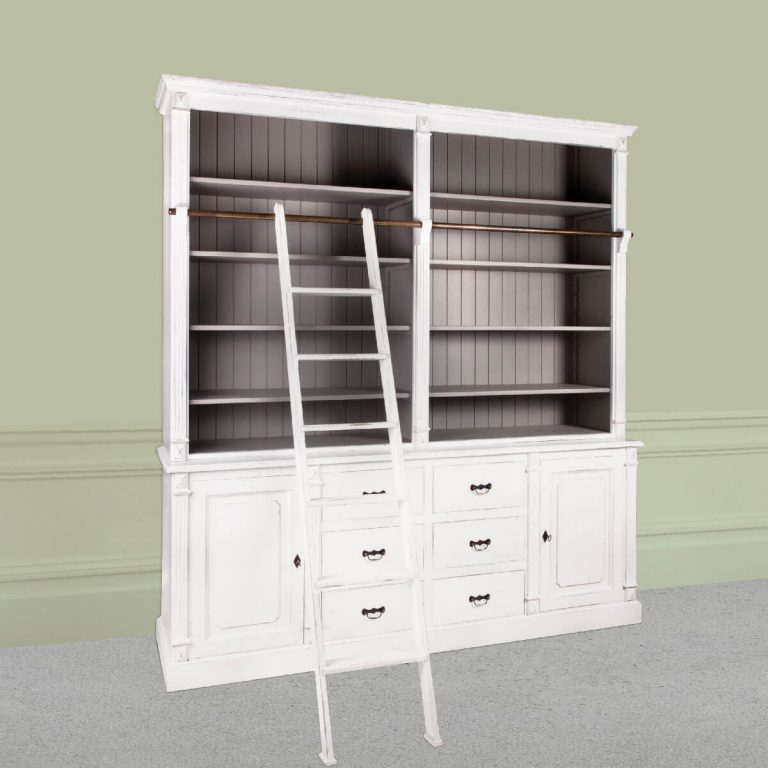 Pascale 6 Drawer Bookshelf with Ladder