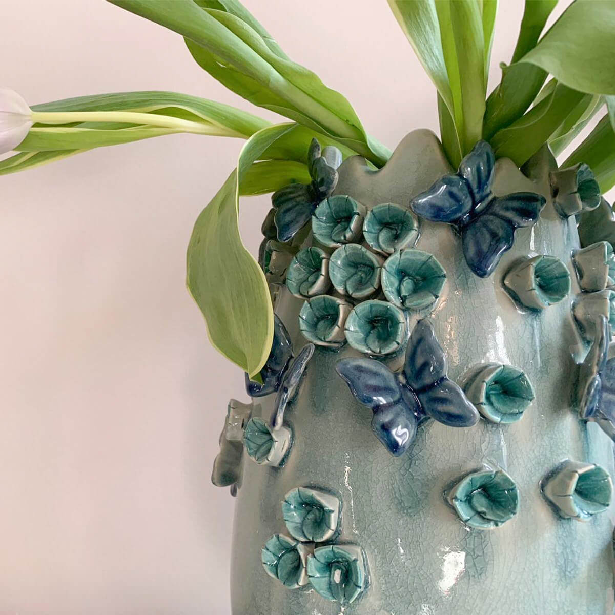 butterfly vase cozy home