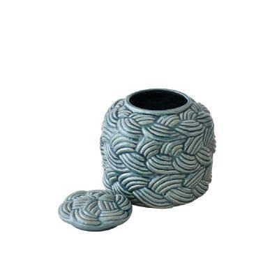 Delphine Sea Green Jar