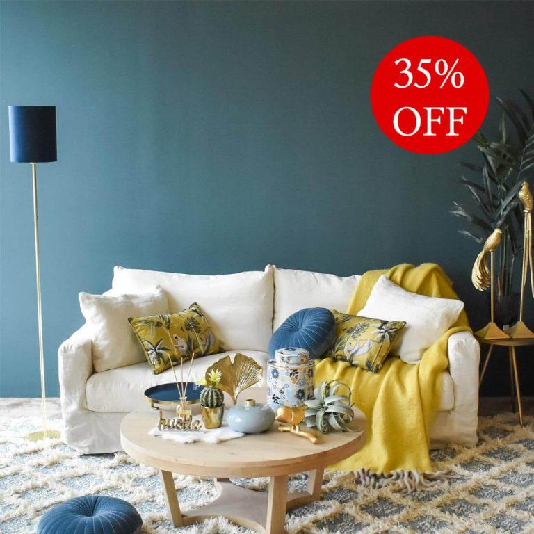 Belgian 3 Seater Cotton Sofa