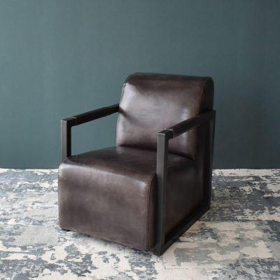 Tobacco Leather Club Chair