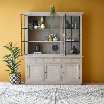 Edward Cabinet with Metal Doors
