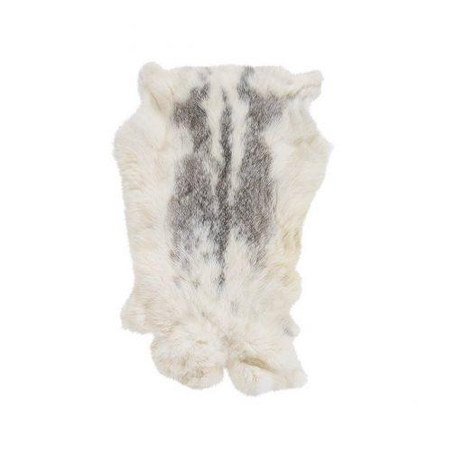 Natural White Mottled Fur