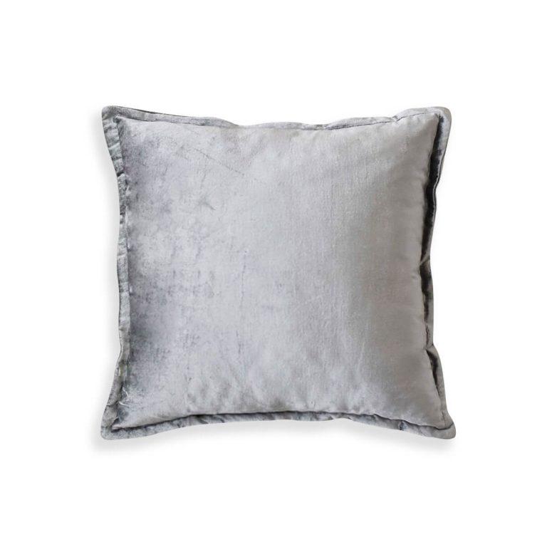 Velvet Cushion Silver