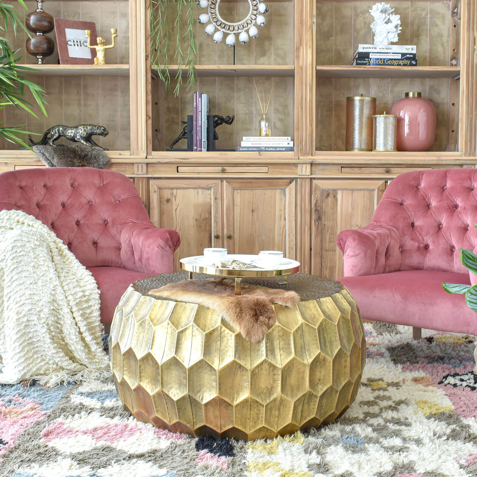 antique-gold-coffee-table