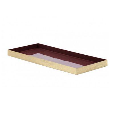 Dark Purple Enamel Tray 35cm