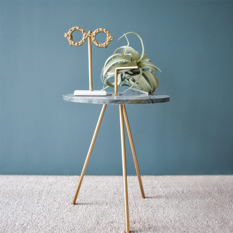 Marble Green-Gold Table 36 x 43 cm