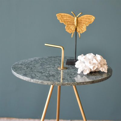 Marble Green-Gold Table 43 x 47 cm