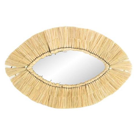 Oval Wicker Mirror