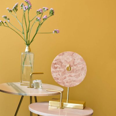 Pink Marble Gold Stand