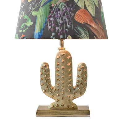 Gold Cactus Table Lamp II