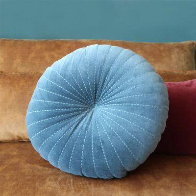 Embroidery Blue Cushion