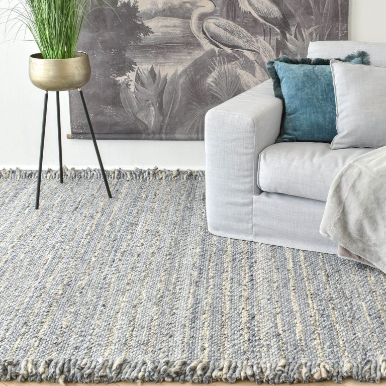 Osby Pearl Blue Hand Woven Rug – 300x400cm