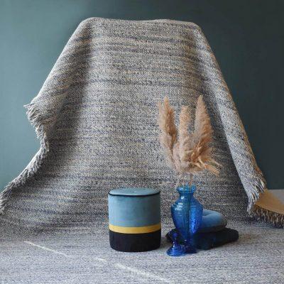 Osby Pearl Blue Hand Woven Rug – 190x290cm/300x400cm