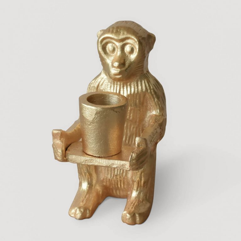 Monkey Candle Stand Small