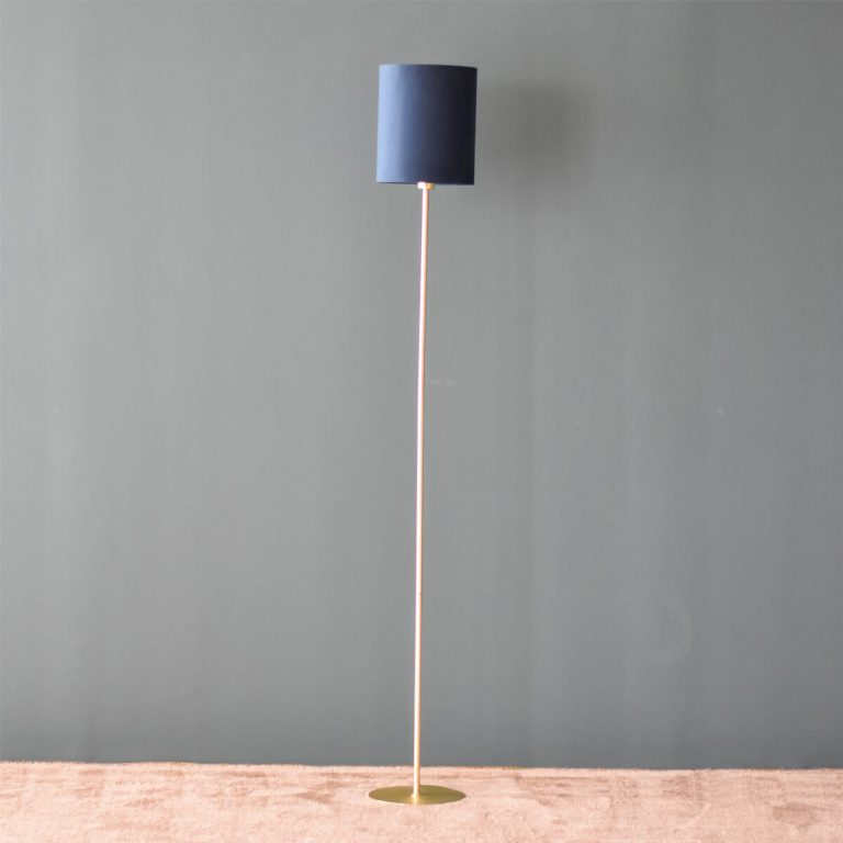 Blue Shade Standing Lamp 150cm
