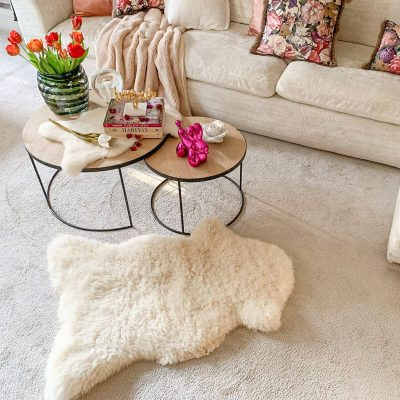 Sheepskin Floor Throw 115 x 75 cm