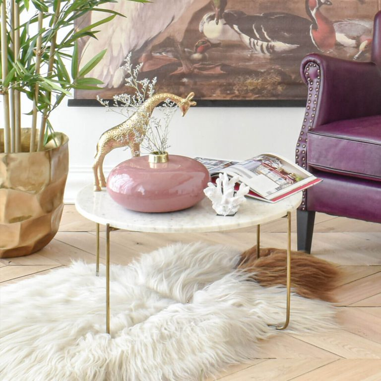 Ella White Marble Table