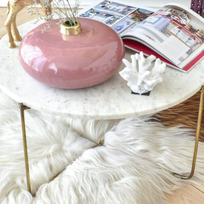 Ella White Marble Table