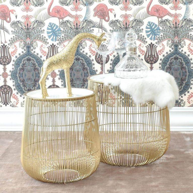 Gisele Nest Table in White