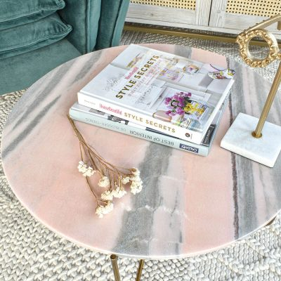 Ella Pink Marble Table