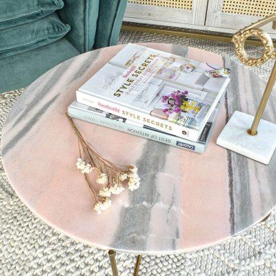 Ella Pink Marble Table
