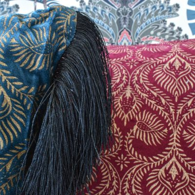 Rangooli Cushion with Fringes