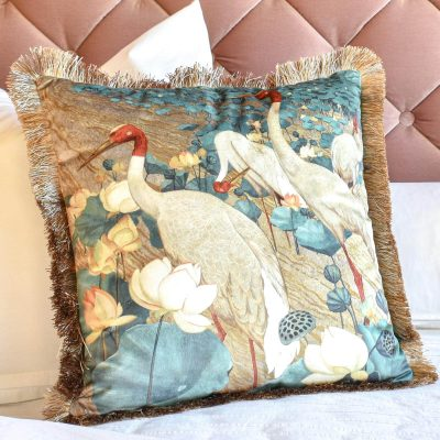 cranes-in-paradise-cushion-in-uae-cozy-home