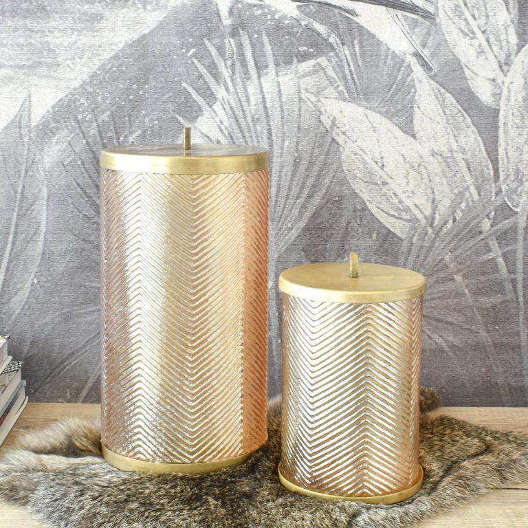 Gold Lustre Storage Jar