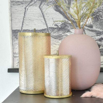 Gold Lustre Storage Jar