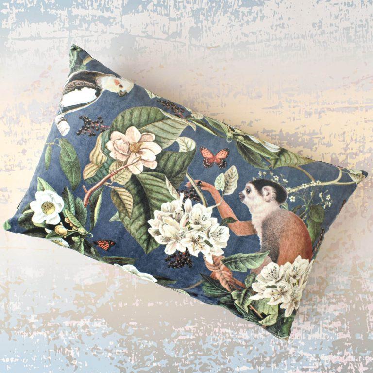 Monkey Velvet Cushion