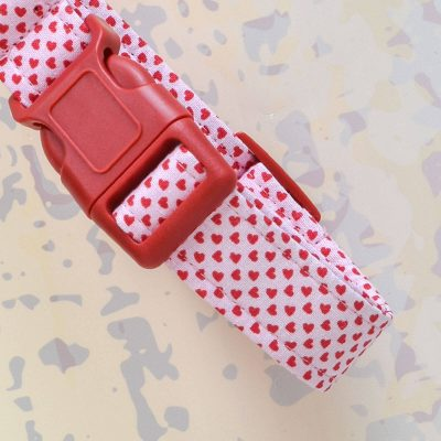 Pink Heart Fabric Collar