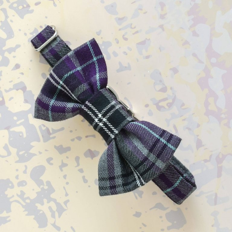 Plaid Bow Tie Dog Collar
