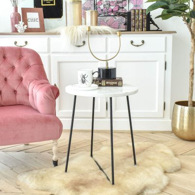 Rowling White Marble Table