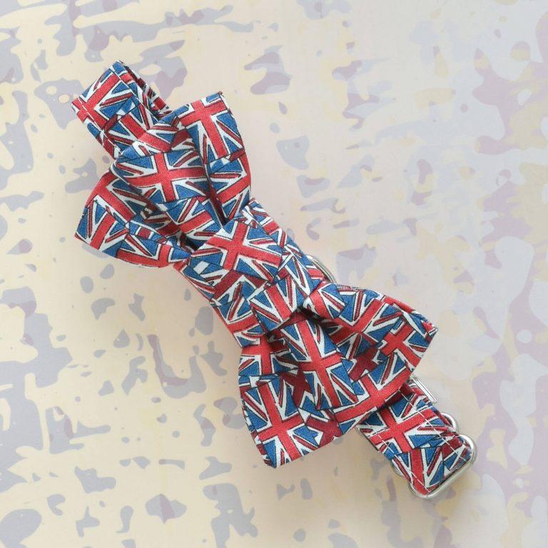 Union Jack Fabric Dog Collar