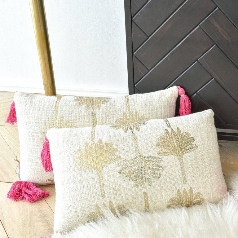 Gold Palm Tree Cushions