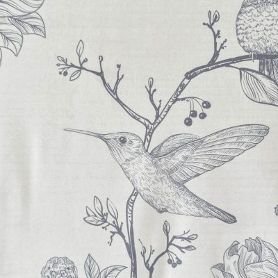 Birds Velvet Grey Wall Art