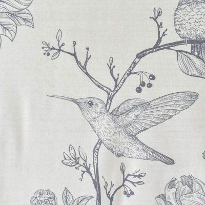 Birds Velvet Grey Wall Art