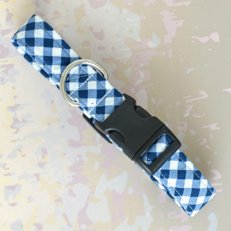 Blue Checks Fabric Collar