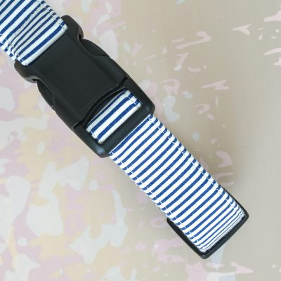 Blue Stipes Fabric Collar