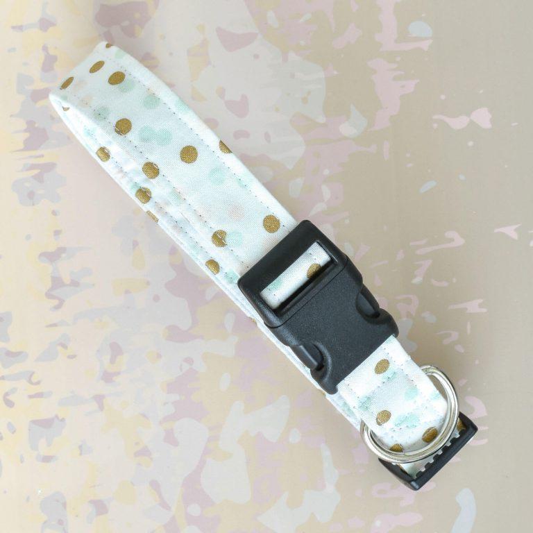 Gold Dots Fabric Collar