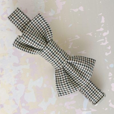 Houndstooth Bow Tie Collar