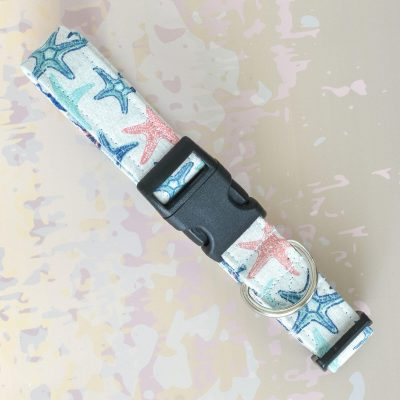 Pastel Star Fish Fabric Collar