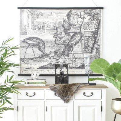 Struis of Kroon Vogels Wall Art
