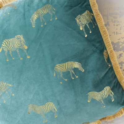 Velvet Zebra Cushion