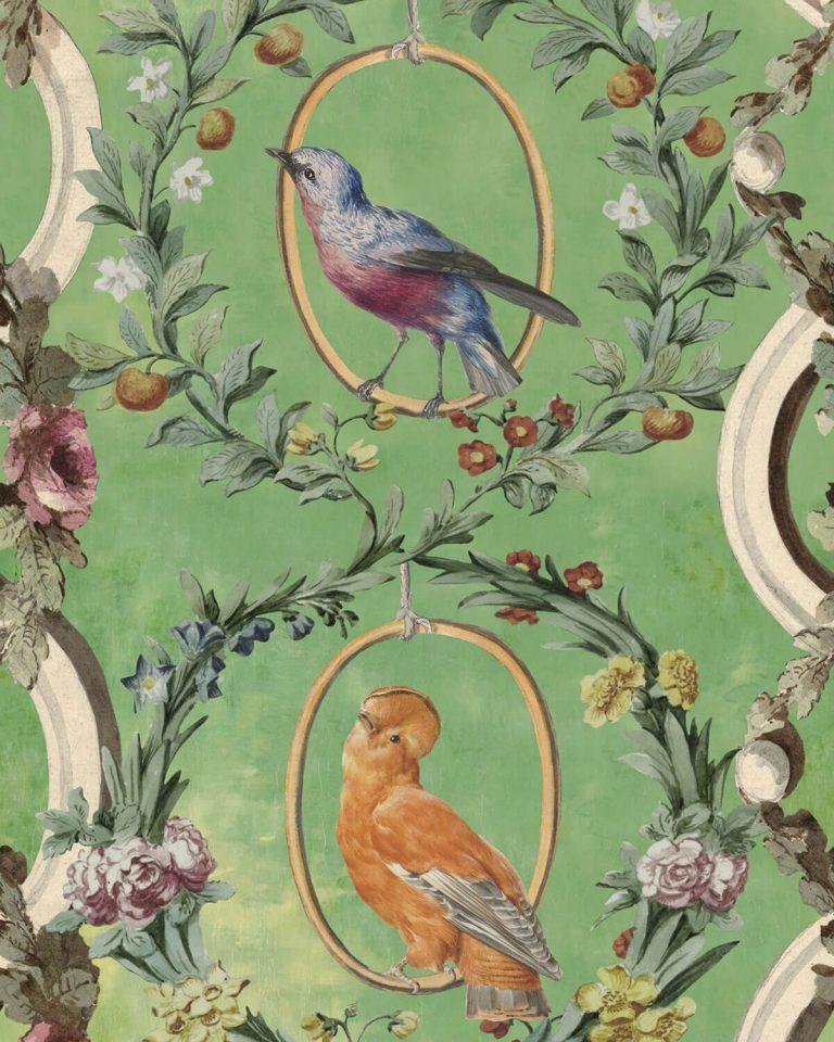 Aviarium Mint Wallpaper