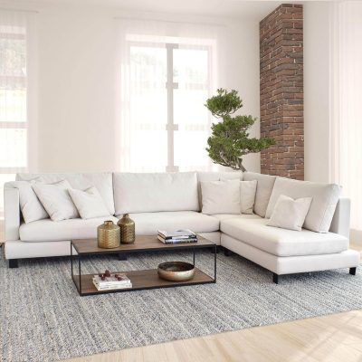 Fabian Relaxed Lounger with customizable Ottoman