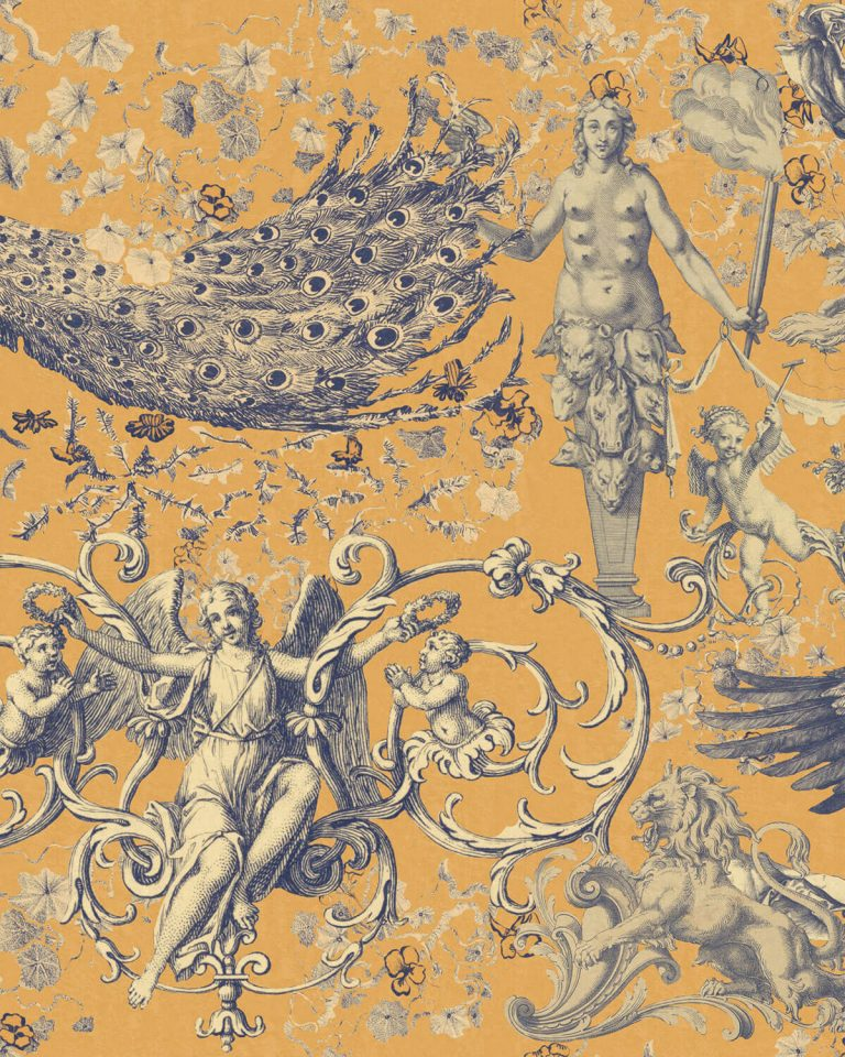 Fairies & Angels Flax Wallpaper