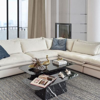 Lincoln Modern Cloud Sofa with Double Feather Filled Cushions