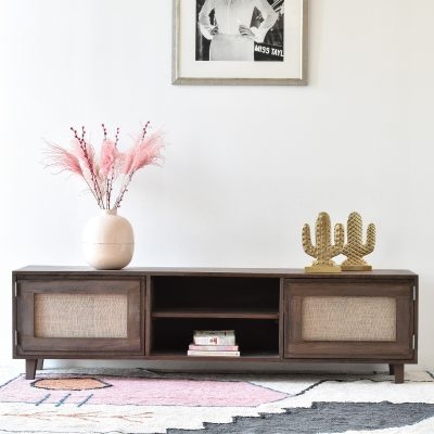 Magnolia TV Table with linen